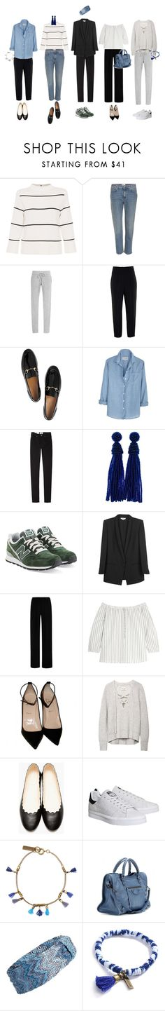 """French wardrobe"" by emmyhallin ❤ liked on Polyvore featuring L.K.Bennett, Acne Studios, Thakoon Addition, Givenchy, Gucci, New Balance, Helmut Lang, Clover Canyon, Madewell and Christian Louboutin"