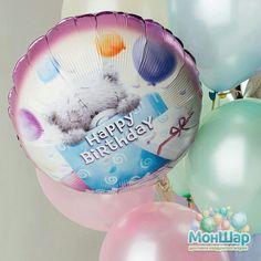 Нежные воздушные шары с перламутровым эффектом для самых любимых. В день рождения особенно приятны такие сюрпризы!)