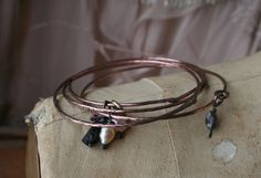 Tutorial how to flatten wire and make this bracelet