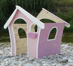 """Area Gioco per bambini modello """"Giulia"""". Offerta Promozionale al 50% di sconto, solo 190,00 euro anzichè 380,00! Realizzata in legno multistrato per esterno ed abete massello, alta resistenza alle intemperie. Sia per interno che per esterno! Facile da montare e da smontare, in pochi istanti, con i pratici incastri in legno!  Dimensioni casetta 105 cm X 95 X 130 di altezza  Smalti per giocattoli da esterno. Color rosa con riporti bianchi. Spedita in tutta Italia con corriere espresso!"""