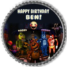 Five Nights at Freddy's 7 Edible Birthday Cake Topper