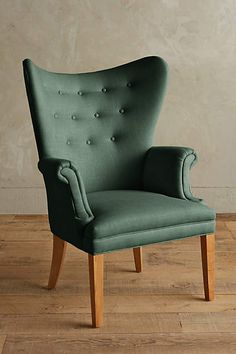 Linen Wingback Chair - #anthrofave