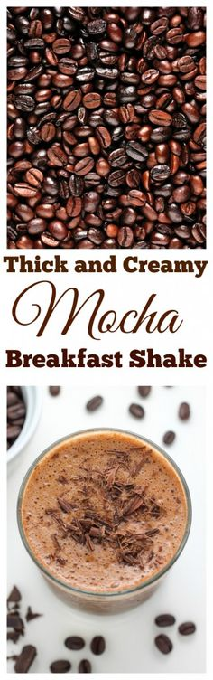 Chocolate Mocha Breakfast Shake - SO thick and creamy! 180 calories per serving.