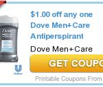New coupon! mens dove care