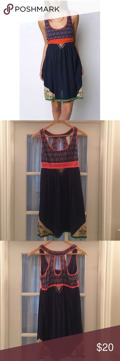 Urban Outfitters Ecote Scarf Dress Navy & Orange. Light & summery dress Urban Outfitters Dresses Midi