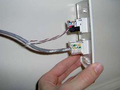 wiring cat5 wall jack terminating rj 45  cat5  cat5e  cat6