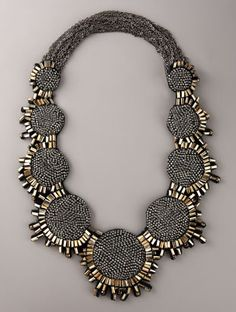 Vera Wang Crystal Medallion Necklace