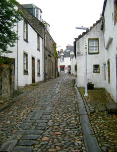 Culross, Fife, Scotland, UK. I love the cobblestone streets. Such a well preserved little village.
