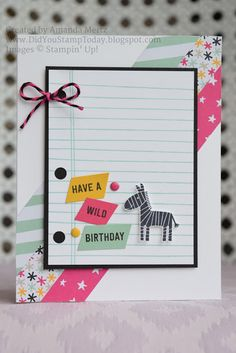 Did You Stamp Today?: Wild Birthday - Stampin' Up! Zoo Babies
