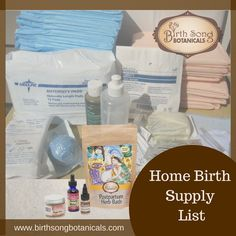 Home Birth Supply List The things you might think of for a hospital bag - clothe. Home Birth Suppl How To Increase Fertility, Prenatal Development, Maternity Pads, Water Birth, Hospital Bag, Hospital List, Breastfeeding Support, Childbirth Education, Natural Birth