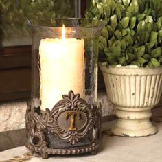 Gg Collection Monogram Candleholder With Metal Base >>> You can find out more details at the link of the image.