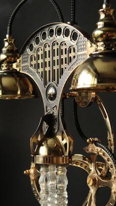 Steampunk Desk, Power Wire, Copper And Brass, Work Lights, Lamp Bases, Desk Lamp, Mirror, Lighting, Vintage