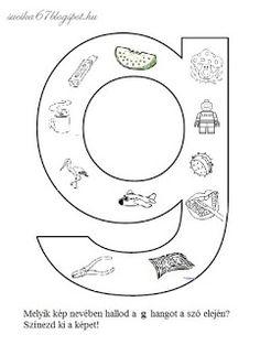 Játékos tanulás és kreativitás: Kisbetűkben képek a hangfelismerés gyakorlásához Letter Activities, Preschool Worksheets, Tree Bookshelf, Dysgraphia, First Grade, Special Education, Letters, Teaching, Writing