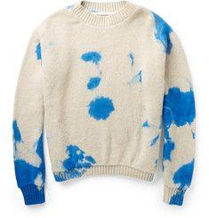 The Elder StatesmanDip-Dyed Cashmere Sweater