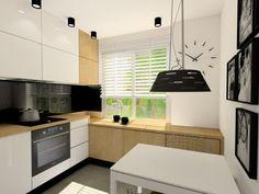 Niewielka kuchnia w bloku z wielkiej płyty też może wyglądać atrakcyjnie:)