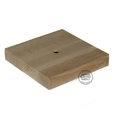 "Square Wood- 4-3/4"" Diameter- 7/8"" Height"