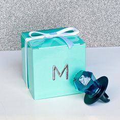 Tiffany themed Maid of Honor Ring Pop Box to propose to your Maid of Honor!