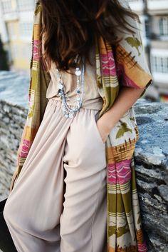 Bohemian jumper + accessories
