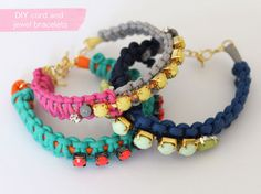 Lotts and Lots | DIY and creative living for the modern maker: DIY - cord and jewel bracelet