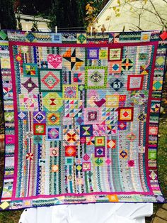 Gypsy Wife Quilt Sewing Sessions-Afternoon. Interesting border addition.