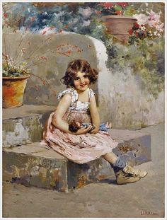 Vincenzo Irolli (Italian, 1860-1945) «The two dolls»
