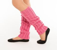 Pink 80's Style Crocheted Legwarmers by vintagelookcreations
