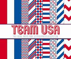 Team USA Digital Paper Set.jpg wordt weergegeven