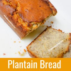 This Plantain Bread is soft, moist and delicious. A Plantain Bread is very similar to Banana Bread. The only difference it that you are using Plantain Plantain Bread, Plantain Fritters, Plantain Recipes, Ripe Plantain, Jamaican Stew Peas, Jamaican Curry, Jamaican Dishes, Jamaican Recipes, Stew Peas Recipe