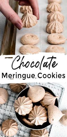 Potluck Recipes, Best Dinner Recipes, Appetizer Recipes, Holiday Recipes, Dessert Recipes, Best Homemade Cookie Recipe, Homemade Cookies, Cookie Recipes, Chocolate Meringue Cookies