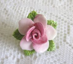 Vintage Flower Brooch by Coalport China Pastel by TheWhistlingMan