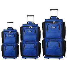 Geoffrey Beene Vertical Duffle Wheeled Set  3 pc >>> Find out more about the great product at the image link.