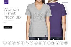 @newkoko2020 Women V-Neck T-Shirt Mock-up by mesmeriseme.pro on @creativemarket #mockup #mockups #set #template #discout #quality #bulk #buy #design #trend #graphic #photoshop #branding #brand