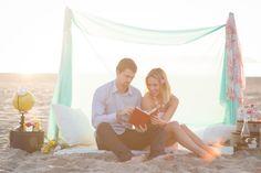 Cupid's Corner: A Beachy Valentine's Day Inspiration Shoot