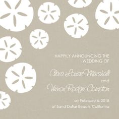Mixbook Sand Dollar Beach Wedding Announcements
