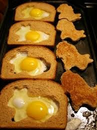 "Instead of ""toad in a hole"" try a ""bunny in a hole!"""