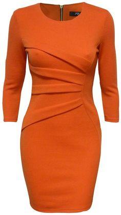 Jane Norman Orange Diagonal Print Bodycon Dress