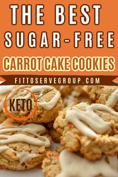 These amazing sugar-free carrot cake cookies are healthy carrot cake cookies. These are also keto-friendly, gluten-free carrot cake cookies and they are packed with the warm spices of cinnamon, ginger, and nutmeg. The texture is spot on. Soft, chewy, and have everything you love about carrot cake cookies minus the high carbs. keto carrot cake cookies| sugar-free carrot cake cookies| low carb carrot cake cookies| gluten-free carrot cake cookies Sugar Free Carrot Cake, Low Carb Carrot Cake, Gluten Free Carrot Cake, Carrot Cake Cookies, Healthy Carrot Cakes, Sugar Free Cookies, Keto Cookies, Gluten Free Cookies, Low Carb Desserts