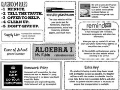 Up to date look for a class syllabus. Thanks for sharing an editable version. Up to date look for a class syllabus. Thanks for sharing an editable version. High School Syllabus, Maths Syllabus, Syllabus Ideas, Syllabus Examples, Math Teacher, Teaching Math, Teacher Resources, Teacher Stuff, Teaching Themes