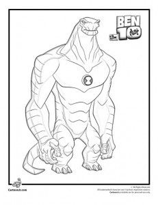ultimate heatblast coloring pages - photo#20