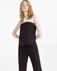 Image 2 of TWO-TONE TOP from Zara