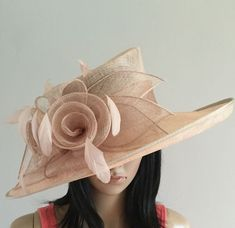 08f9fc306e4ff BNWT Stunning Dusty Pink Formal Wedding Hat Special Occasion Hat Ascot