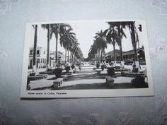 Cunard Line postcard photo Colon Panama 1952 by vintagebyrudi, $4.99