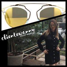 Qual foi seu #look para o almoço de hoje? A Fernanda acertou em cheio com seu #Dior So Real Gold ✨WE ❤ #oticaswanny #clientewanny #diorsoreal #oscarfreire