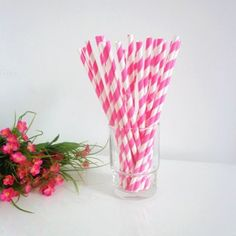 Paper Straws Hot Pink Stripe Design http://www.paperstrawssale.com/paper-straws-hot-pink-stripe-design-500pcs-p-222.html