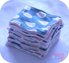 lingettes démaquillantes réutilisables... reusable make-up remover pads