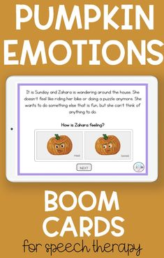 These fun seasonal Boom Cards targets 7 emotions. Students will read short shorts and pick the correct animated gif that corresponds with the correct emotion. This emotions activity is fun, engaging and perfect for preschool, prek and kindergarten students. Boom Cards are self checking task cards and students are motivated by them! Sensory Activities For Autism, Preschool Special Education, Autism Resources, Speech Therapy Activities, Language Activities, Preschool Speech Therapy, Speech Pathology, Speech Language Pathology, Speech And Language