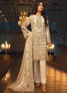 Check Out Jazmin Luxury Embroidered Aslàn Chiffon Collection Replica at Master Replica Pakistan Call/WhatsApp: Simple Pakistani Dresses, Pakistani Dress Design, Pakistani Outfits, Indian Dresses, Indian Outfits, Latest Bridal Dresses, Baroque Dress, Eid Outfits, Fancy Dress Design