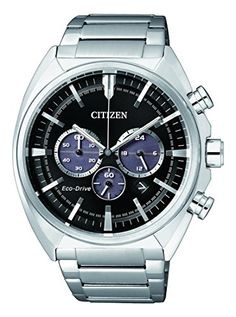 Citizen-de-hombre-reloj-de-pulsera-Crongrafo-Cuarzo-Acero-inoxidable-ca4280-53E