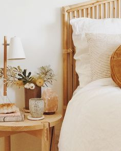 sundayharris has styled our White & Soft grey Striped French Linen bedding so ef. - sundayharris has styled our White & Soft grey Striped French Linen bedding so ef… - My New Room, My Room, Home Interior, Interior Design, Bohemian Interior, Apartment Interior, Design Design, Decoration Bedroom, Ideas Hogar