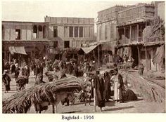 A market in Baghdad, 1914